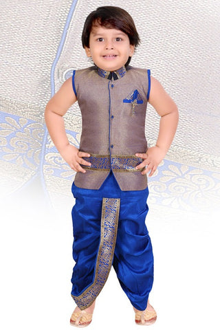 Indian Boys Bule Kurta Set