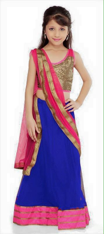 Indian Designer  Navy Blue Net Readymade Lehenga Choli with Dupatta