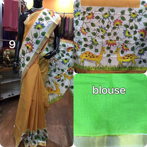 Soft Cotton Saree with Dears Print
