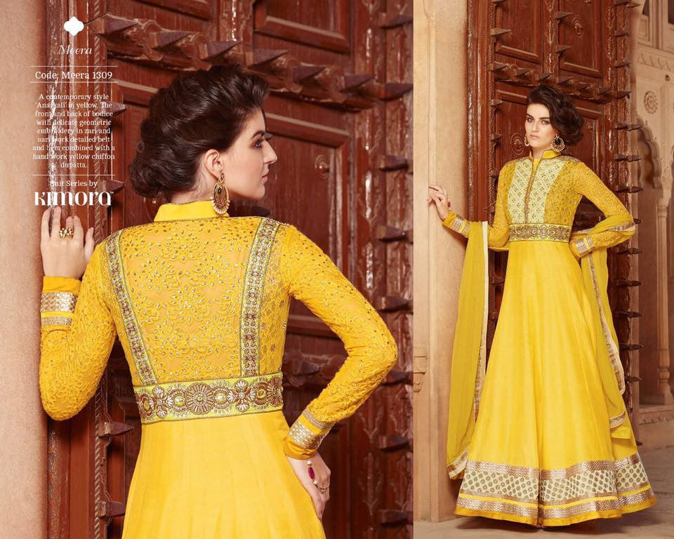 Yellow Pure Chiffon Dupatta with Silk Georgette with Embroidered