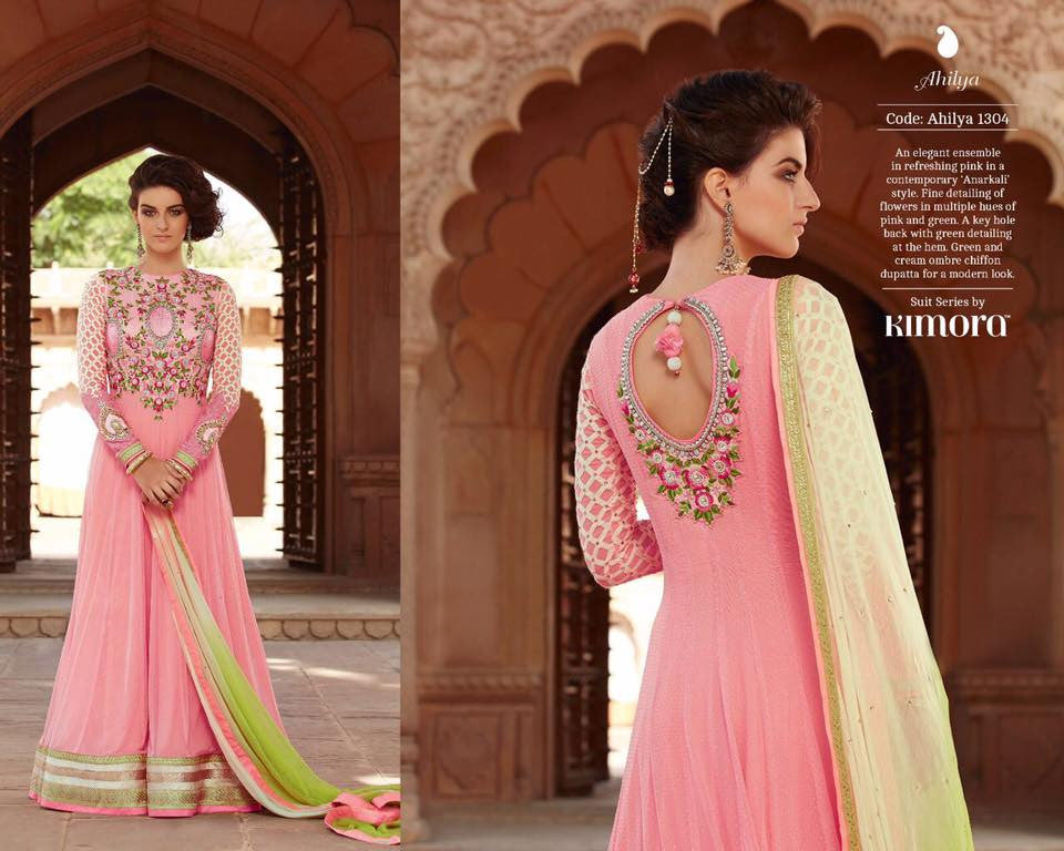 Pure Chiffon Dupatta  Shaded with Soft Net with Embroidered