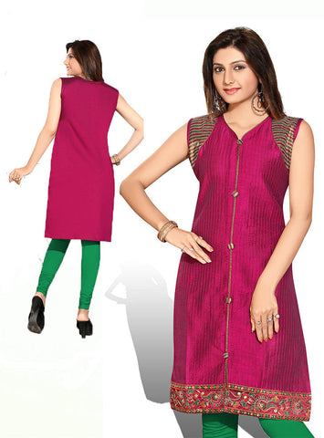 Indian Kurti_Purple_Embroidery_1