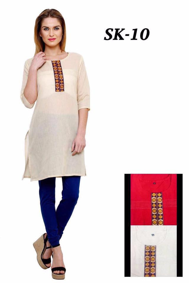 Simple Cotton Kurtis Series of SK10