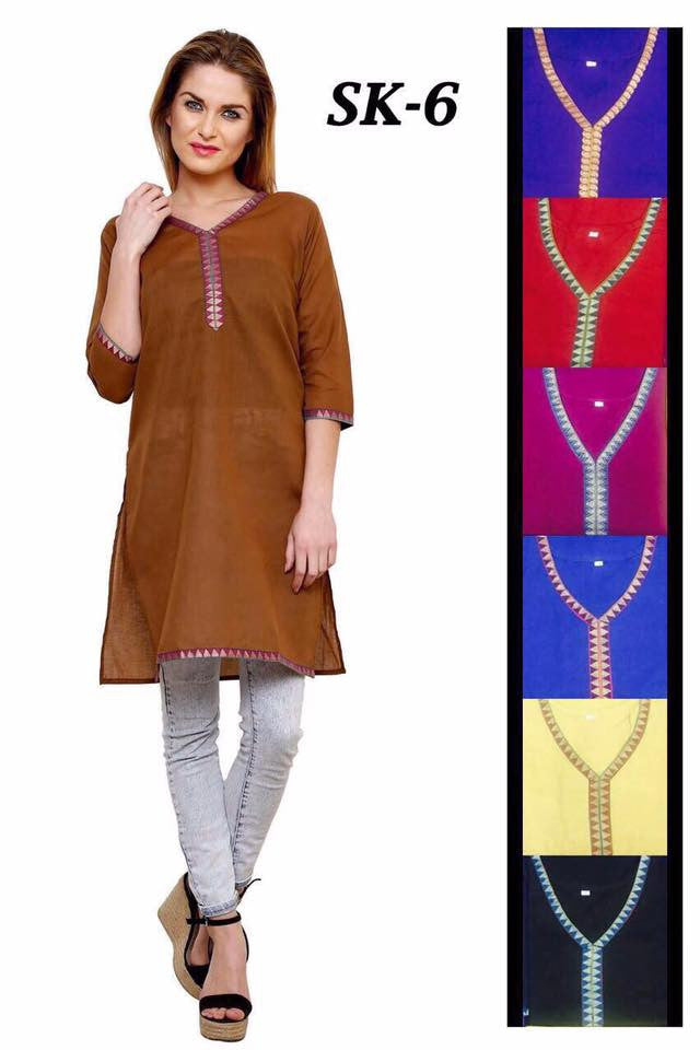 Simple Cotton Kurtis Series of SK6