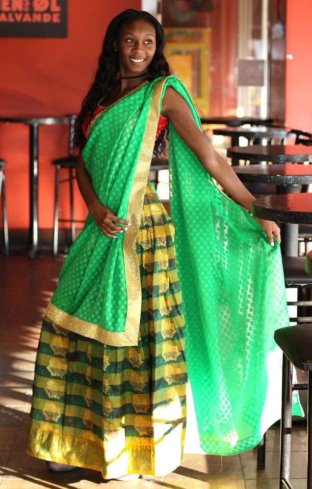 Green Pattu /Silk Lehanga