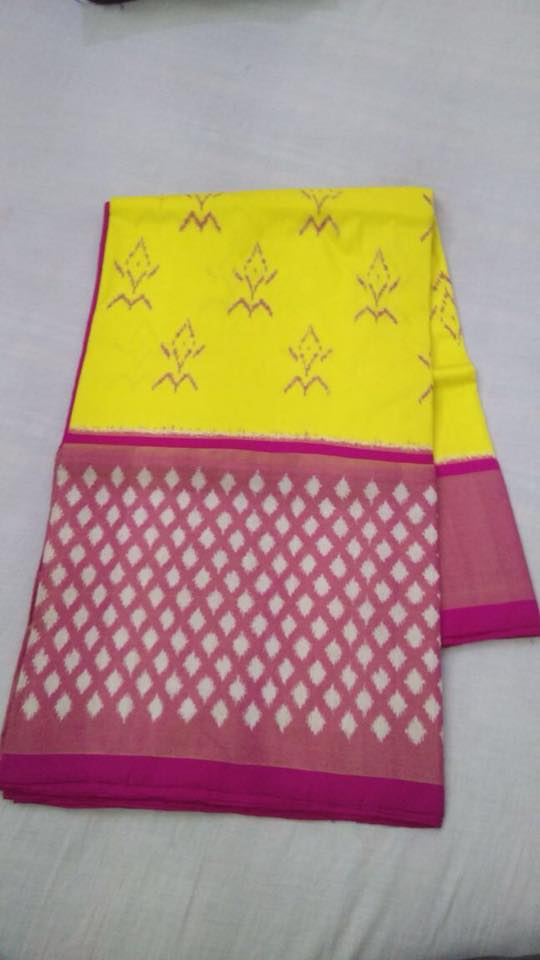 EthnicIndiaDesign Ikkatha Yellow