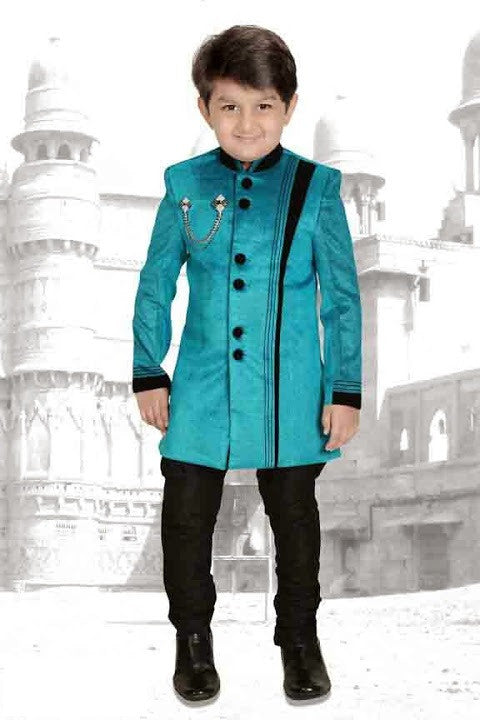 Indian Designer Blue Kurta Set