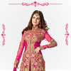 Pink Net Kameez with Dhoti Pant