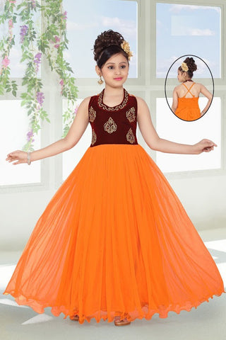 Indian Designer_Gown_Orange