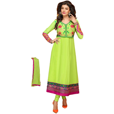 Indian Salwar with Lime and pink