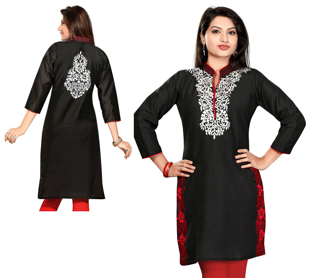 Indian Kurti_Black_Embroidery_1