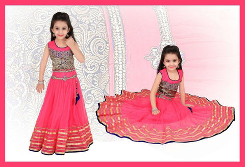 Indian Designer  Pink Net Readymade Lehenga Choli with Dupatta