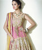 Indian Designer Beige and Pink Net Anarkali Churidar Kameez