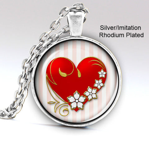 Handmade Love Heart Necklaces ,Pendants Valentines day Gift Jewelery -Free + Shipping