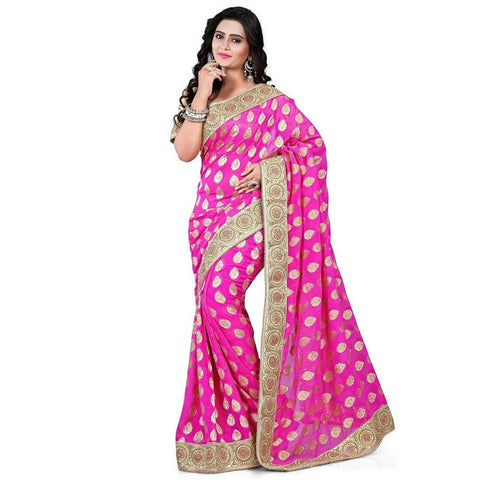 Indian Designer Pink Saree