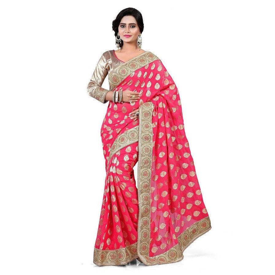 Indian Designer Peach Saree
