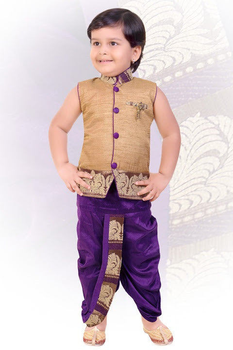 Indian Boys Purple Kurta Set
