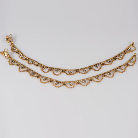 Anklets with Chains Gold Covering