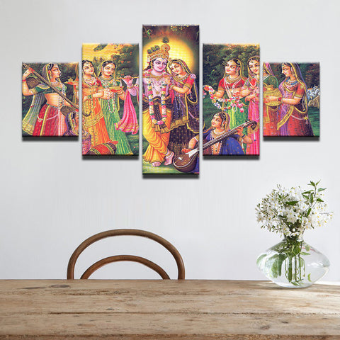 5 Panel India Myth Lord Krishna