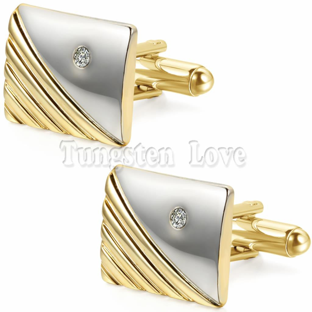 Luxury Men Jewelry Stylish Modern Cufflinks Rhinestone Fashion  for Shirt Wedding Business Free + Shipping