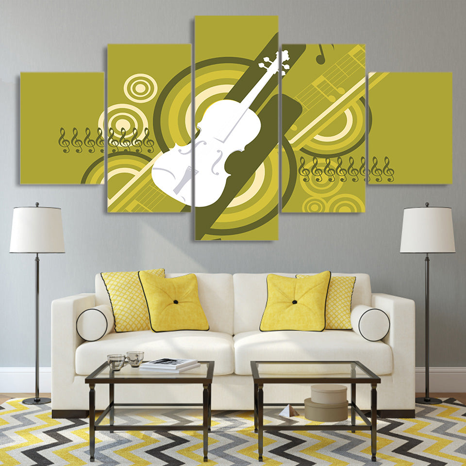 Comic Guitar Music Decoration Framework Pictures | Ethnic India Design