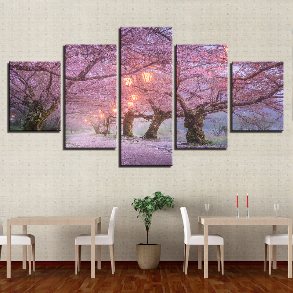 Cherry blossom landscape Living Room Picture