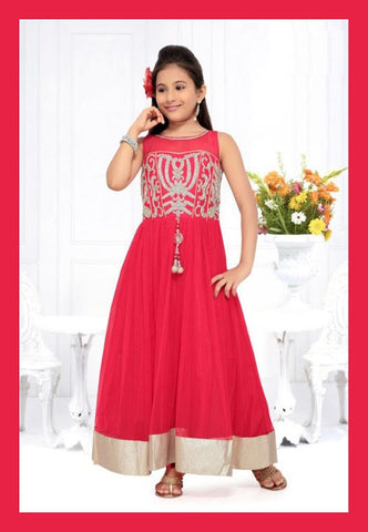Indian Designer_Gown_Pink