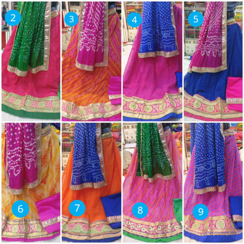 GEORGETTE LEHENGA WITH COTTON INNER