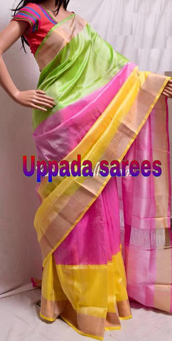 Ethnic India Design Multi Colore Uppada saree