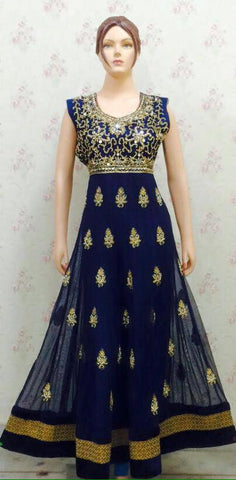 Ethnic India DesignNavy Blue Anarkali