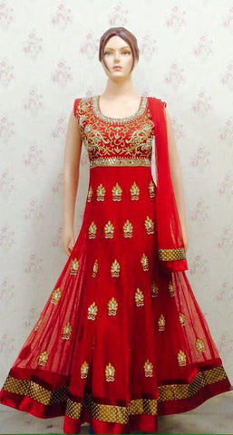 Ethnic India Design Red Anarkali