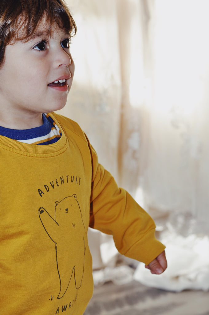 Red Caribou Adventure Awaits Children's Sweatshirt at Little Nomad