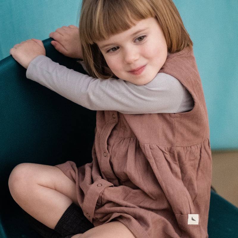 Turtle Dove London Cord Dress Certified Organic Children's Clothes