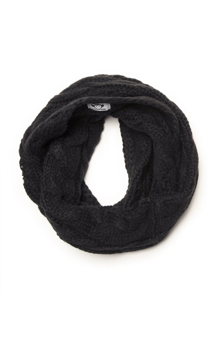 Appaman Black Cable Knit Infinity Scarf - Little Nomad