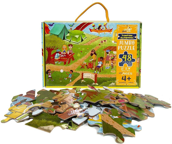 Camping Outdoors 48 Piece Puzzle - Little Nomad