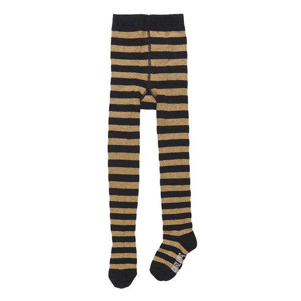 CarlijnQ Black & Gold Stripe Tights - Little Nomad
