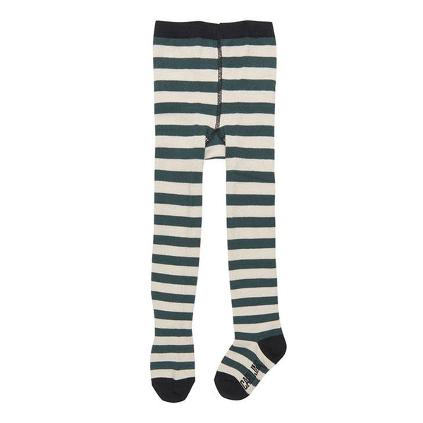CarlijnQ Green & White Stripe Tights - Little Nomad