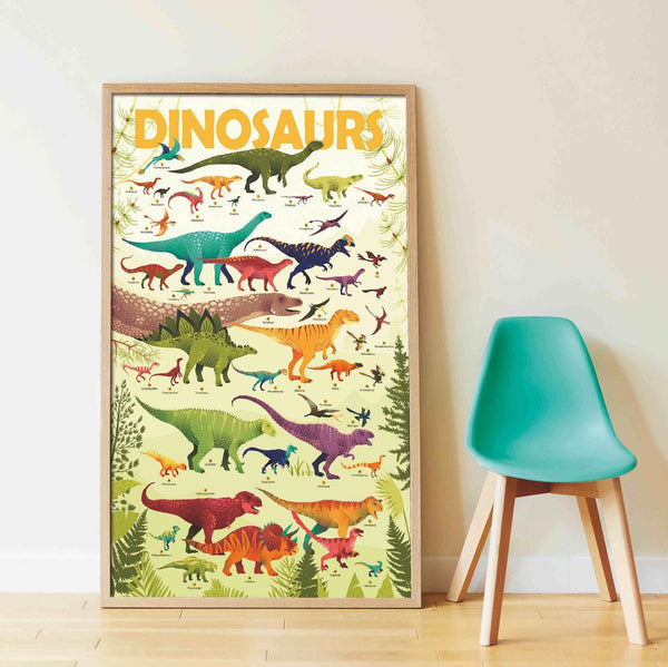 Dinosaurs Discovery Sticker Poster - Little Nomad