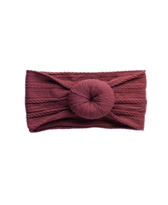 Emerson and Friends - Burgundy Bun Baby Headband - Little Nomad