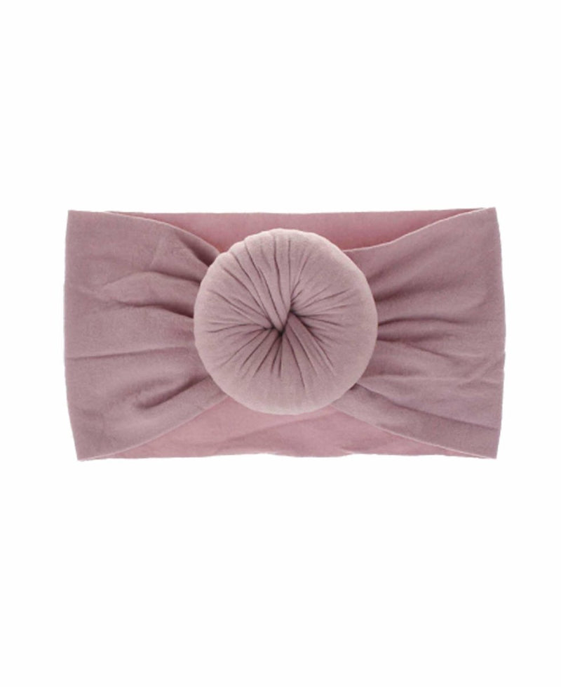 Emerson and Friends - Mauve Bun Headband - Little Nomad