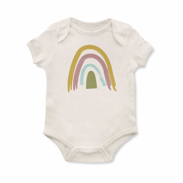 Emerson and Friends - Neutral Rainbow Onesie - Little Nomad