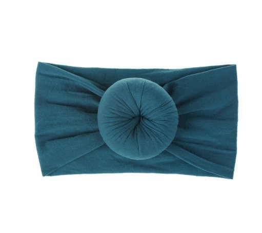 Emerson and Friends - Teal Bun Baby Headband - Little Nomad