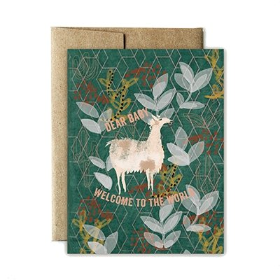 Ferme à Papier - Folk Pattern Baby Greeting Card - Little Nomad