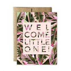 Ferme à Papier - Lush Welcome Little One Greeting Card - Little Nomad