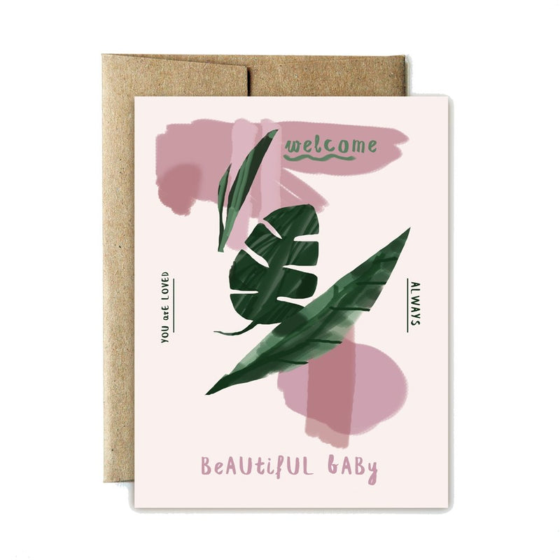 Ferme à Papier - Monstera Baby Greeting Card - Little Nomad