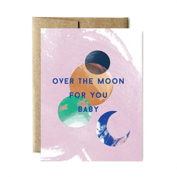 Ferme à Papier - Over The Moon For You Baby Card - Little Nomad