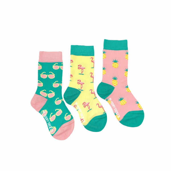 Friday Sock Co. | Flamingos, Pineapples & Sunglasses - Little Nomad
