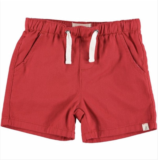 Me & Henry - Hugo Twill Shorts - Red - Little Nomad