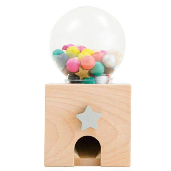 kiko+ & gg* - Gatcha Gatcha Wooden Gumball Dispenser - Little Nomad