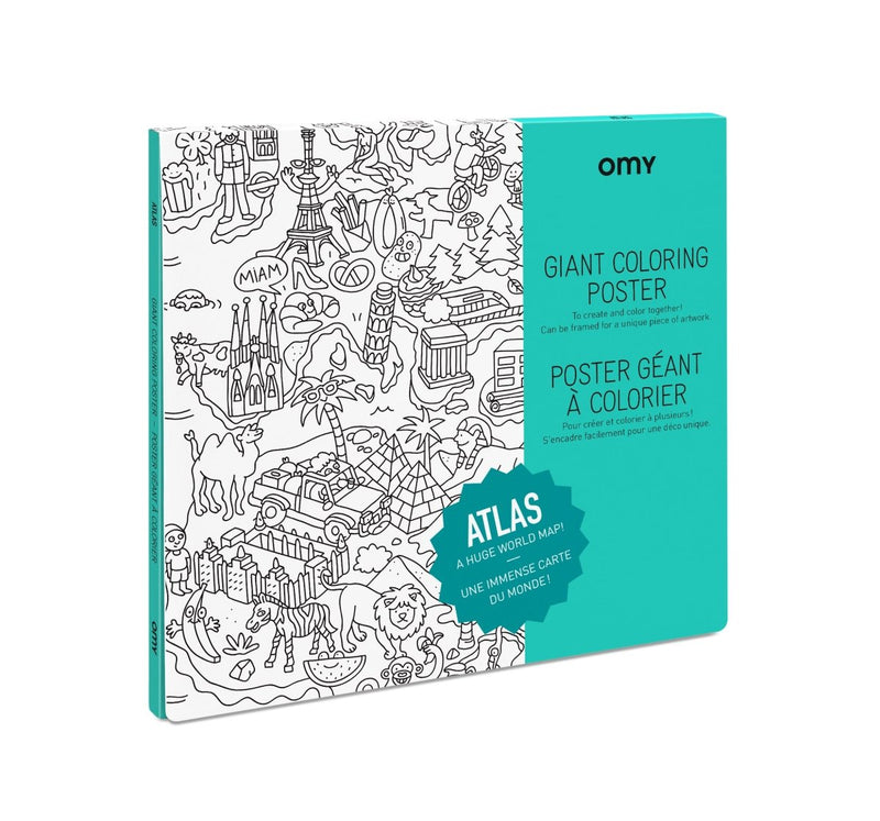 OMY Atlas Coloring Poster - Little Nomad